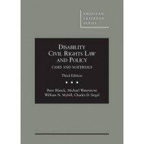 Disability Civil Rights Law and Policy by Peter Blanck, 9780314279767