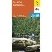 Exmoor, Barnstaple, Lynton, Minehead & Dulverton by Ordnance Survey, 9780319242483