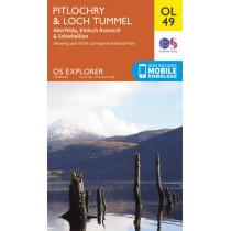 Pitlochry & Loch Tummel, Aberfeldy, Kinloch Rannoch & Schiehallion by Ordnance Survey, 9780319242889