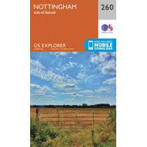 Nottingham, Vale of Belvoir by Ordnance Survey, 9780319244579