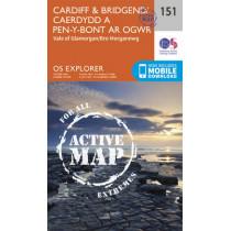 Cardiff and Bridgend/Caerdydd a Phen-y-Bont Ar Ogwr by Ordnance Survey, 9780319470237