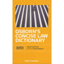 Osborn's Concise Law Dictionary by Mick Woodley, 9780414023208