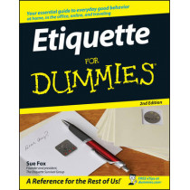 Etiquette For Dummies by Sue Fox, 9780470106723