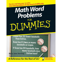 Math Word Problems For Dummies by Mary Jane Sterling, 9780470146606