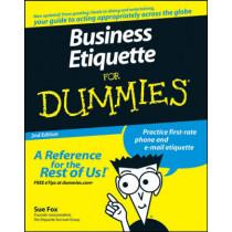 Business Etiquette For Dummies by Sue Fox, 9780470147092