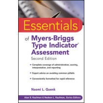 Essentials of Myers-Briggs Type Indicator Assessment by Naomi L. Quenk, 9780470343906