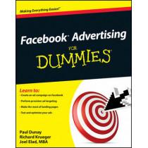 Facebook Advertising For Dummies by Paul Dunay, 9780470637623