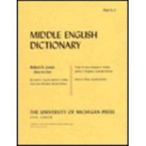 Middle English Dictionary: U.1: Pt. U.1 by Robert E. Lewis, 9780472012213
