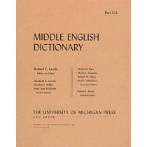 Middle English Dictionary Pt. U.2: U.2 by Robert E. Lewis, 9780472012220