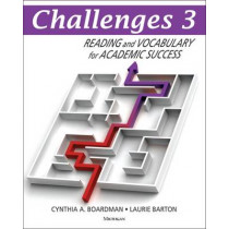 Challenges 3: Reading and Vocabulary for Academic Success by Cynthia A Boardman, 9780472034437