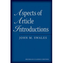 Aspects of Article Introductions by John M. Swales, 9780472034741
