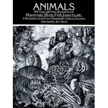 Animals: 1,419 Copyright-Free Illustrations of Mammals, Birds, Fish, Insects, etc by Jim Harter, 9780486237664