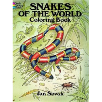 Snakes of the World Coloring Book by Jan Sovak, 9780486284712