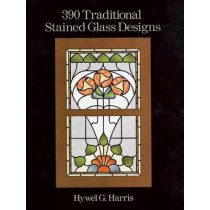 390 Traditional Stained Glass Designs by Hwyel G. Harris, 9780486289649