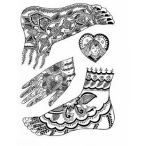 Mehndi Designs: Traditional Henna Body Art by Marty Noble, 9780486438603