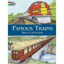 Famous Trains: Coloring Book by Bruce LaFontaine, 9780486440095