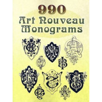 990 Art Nouveau Monograms by Dover, 9780486454238