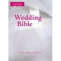 KJV Wedding Bible, Ruby Text Edition, White French Morocco Leather, KJ223:T, 9780521696111