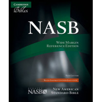 NASB Wide Margin Reference Bible, Black Edge-lined Goatskin Leather, Red-letter Text, NS746:XRME, 9780521702652