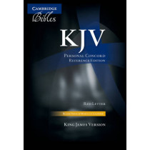 KJV Personal Concord Reference Edition KJ463:XRI black French Morocco leather, thumb indexed, 9780521759052