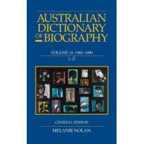 Australian Dictionary of Biography V18 L-Z by Melanie Nolan, 9780522861310