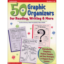 50 Graphic Organizers for Reading, Writing and More by Marcia Modlo, 9780590004848