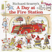 Richard Scarry's a Day at the Fire Station by Richard Scarry, 9780613838795