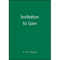 Invitation to Law by A. W. B. Simpson, 9780631145387