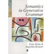 Semantics in Generative Grammar by Irene Heim, 9780631197133