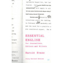 Essential English for Journalists, Editors and Writers by Sir Harold Evans, 9780712664479