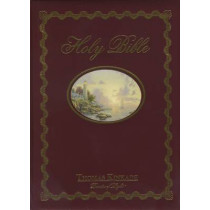 NKJV, Lighting the Way Home Family Bible, Hardcover, Red Letter Edition: Holy Bible, New King James Version by Thomas Kinkade, 9780718002435