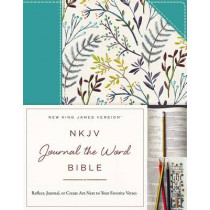 NKJV, Journal the Word Bible, Cloth over Board, Blue Floral, Red Letter Edition: Reflect, Journal, or Create Art Next to Your Favorite Verses by , 9780718088644