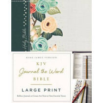 KJV, Journal the Word Bible, Large Print, Cloth over Board, Green Floral, Red Letter Edition: Reflect, Journal, or Create Art Next to Your Favorite Verses by Thomas Nelson, 9780718090883