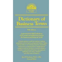 Dictionary of Business and Economics Terms by Jack P. Friedman, 9780764147579