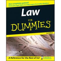 Law For Dummies by John Ventura, 9780764558306