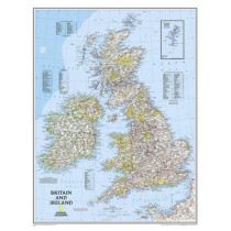 Britain And Ireland Executive Laminated Map: Wall Maps Countries & Regions by National Geographic Maps, 9780792249559