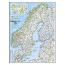 Scandinavia Classic, Laminated: Wall Maps Countries & Regions by National Geographic Maps, 9780792249856