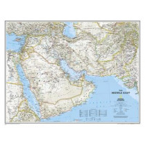 Middle East, Tubed: Wall Maps Countries & Regions by National Geographic Maps, 9780792250227