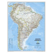 South America Classic, Enlarged &, Laminated: Wall Maps Continents by National Geographic Maps, 9780792281078
