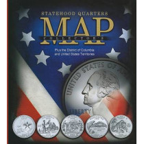 Statehood Quarters Collector's Map: Plus the District of Columbia and United States Territories by Whitman Publishing, 9780794827847