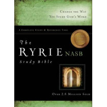 NASB Ryrie Study Bible, Black Bonded Leather, Red Letter by Charles C. Ryrie, 9780802484673