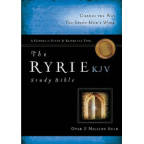 KJV Ryrie Study Bible, Black, Red Letter, Indexed by Charles C. Ryrie, 9780802489081