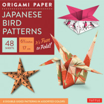 """Origami Paper - Japanese Bird Patterns - 6 3/4"""" - 48 Sheets: Tuttle Origami Paper: High-Quality Origami Sheets Printed with 8 Different Patterns: Instructions for 7 Projects Included by Tuttle Publishing, 9780804844888"""