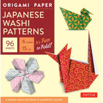 Origami Paper: Japanese Washi Patterns: Perfect for Class Projects and Modular Origami by Tuttle Publishing, 9780804845465