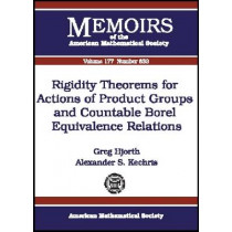 Rigidity Theorems for Actions of Product Groups and Countable Borel Equivalence Relations, 9780821837719