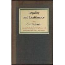 Legality and Legitimacy by Carl Schmitt, 9780822331742