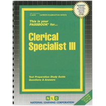 Clerical Specialist III: Passbooks Study Guide by National Learning Corporation, 9780837344331