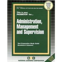 Civil Service Administration, Management and Supervision: Passbooks Study Guide by Jack Rudman, 9780837367033