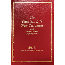 NKJV, Christian Life New Testament, Imitation Leather, Burgundy: Master Outlines and Study Notes by Thomas Nelson, 9780840721785