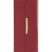 NKJV, Checkbook Bible, Compact, Bonded Leather, Burgundy, Wallet Style, Red Letter Edition: Holy Bible, New King James Version by Thomas Nelson, 9780840785428